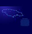 map jamaica from the contours network blue vector image vector image