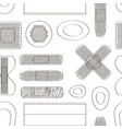 medical plasters various shape pattern vector image
