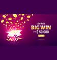 online casino gambling game vector image vector image