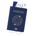 Passport and ticket vector image vector image