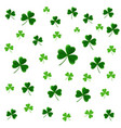 patricks day seamless pattern with clover leaves vector image