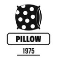 pillow logo simple black style vector image vector image