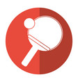 ping pong paddle ball shadow vector image vector image