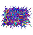 rainbow colorful decorative psychedelic flower vector image vector image