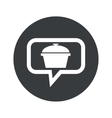 Round pot dialog icon vector image vector image