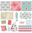 Scrapbook Vintage Wedding vector image vector image
