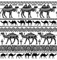 seamless pattern with decorative camels vector image vector image