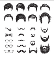 set different hipster haircuts beards glasses vector image vector image