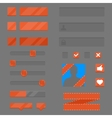 set elements for games and apps vector image