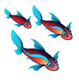 set fantasy animals with ears and fins isolated on vector image vector image