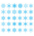 set of 36 snowflakes vector image