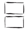 set of black ink grunge frames on white vector image
