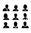 set of men and women with business avatar vector image vector image