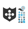 Shield Flat Icon With Bonus vector image vector image