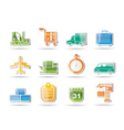shipping and transportation vector image