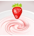 Strawberry Cocktail vector image