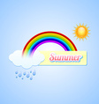Summer button vector image vector image
