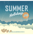 summer travel poster retro vector image vector image