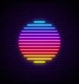 sun neon sign glowing futuristic symbol vector image vector image