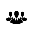 team icon community business people vector image vector image