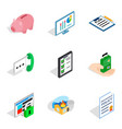 technical officer icons set isometric style vector image
