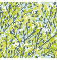 tender spring tree branches seamless pattern vector image