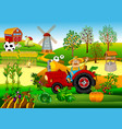 tractor driver on a farm vector image vector image