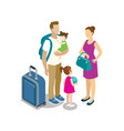 traveling young family with children vector image vector image