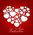 valentines day background with concept a heart vector image vector image