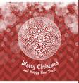 Vintage Christmas card with Christmas Ball vector image vector image