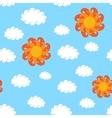 Vintage Sky Seamless Pattern vector image vector image