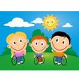 Wheelchair children vector image vector image