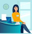 woman office employee secretary administrator vector image vector image