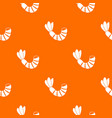 shrimp pattern seamless vector image