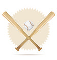 baseball retro banner with bats and ball vector image