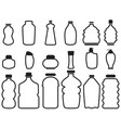 bottle container outline icons vector image
