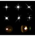 Star lights set vector image
