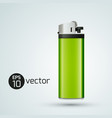 3d gas lighter template vector image vector image