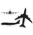 airplane silhouettes isolated on white background vector image vector image