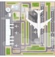 airport landing strips top view vector image vector image