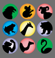 Animal Silhouette Color 2 Icons vector image vector image