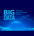 big data binary code background vector image vector image