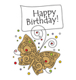 birthday card vector image vector image
