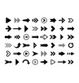 black arrows set on white background arrow vector image vector image
