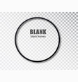 black circle blank picture frames empty frame vector image vector image