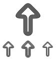 Black line success logo design set vector image vector image