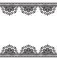 border pattern elements with flowers in indian vector image vector image