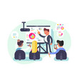 business meeting teamwork vector image