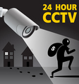 CCTV Security Camera capture robber man Il vector image vector image