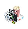 Cinema Concept Realistic vector image vector image